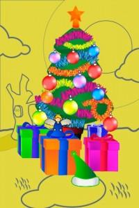 Postal navideña creada con Xmas Days