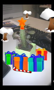 Cactus decorado con Xmas Days!!